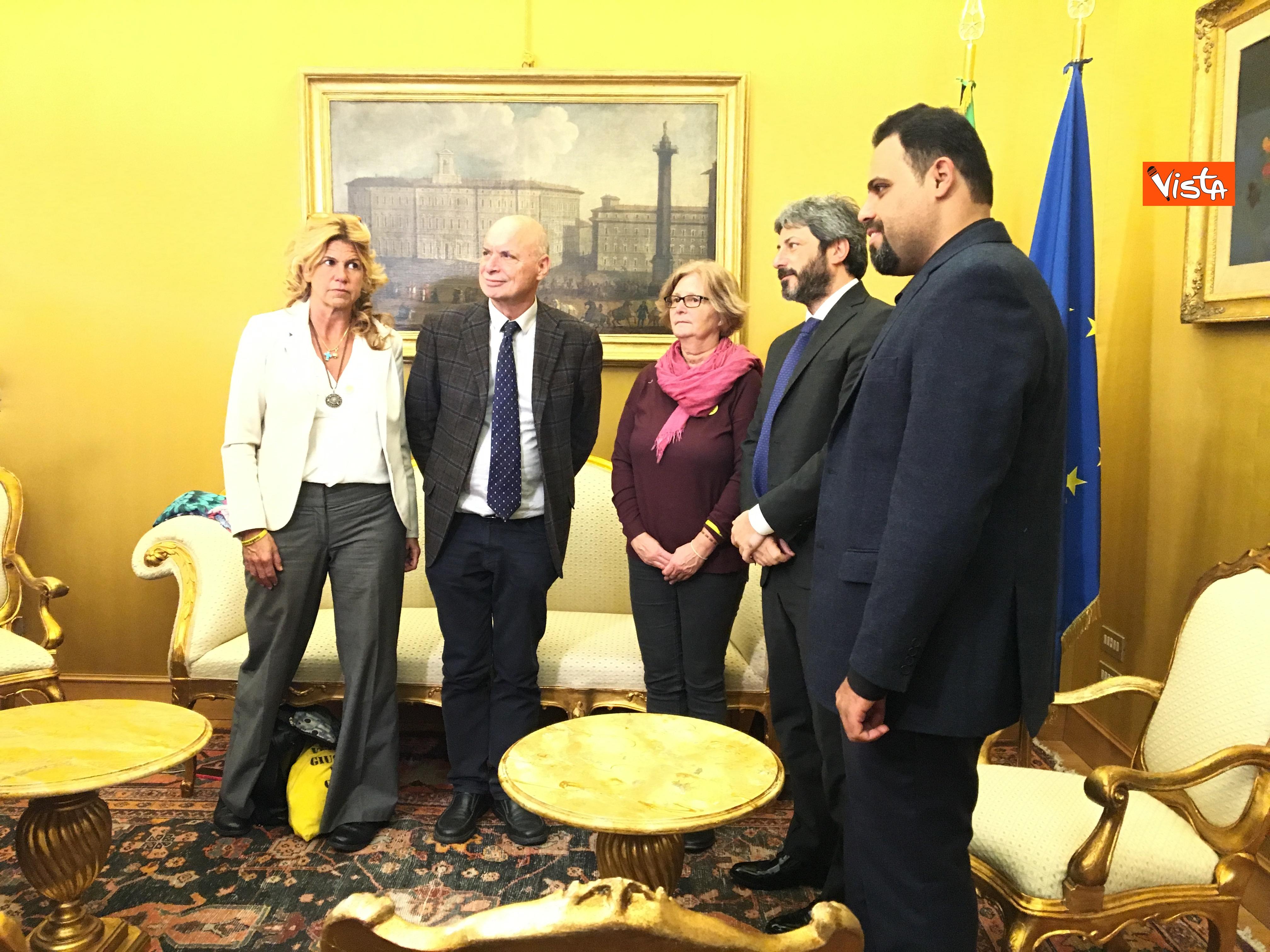 05-12-18 Regeni, Fico riceve i genitori di Giulio e i loro legali a Montecitorio