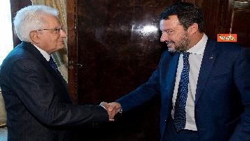 1 - Mattarella accoglie la delegazione della Lega guidata da Salvini