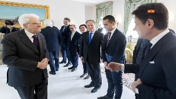 2 - Ue, Mattarella riceve Conte e ministri in vista del Consiglio