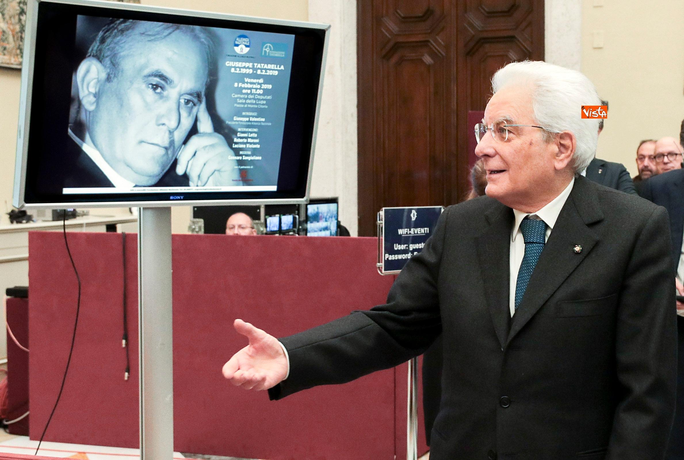 08-02-19 Mattarella alla commemorazione di Giuseppe Tatarella 03