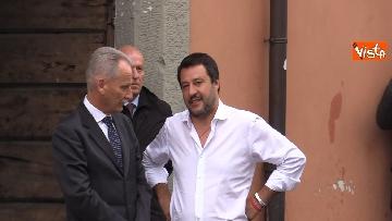 4 - Il ministro Salvini all'inaugurazione della sede della Lega a Bergamo