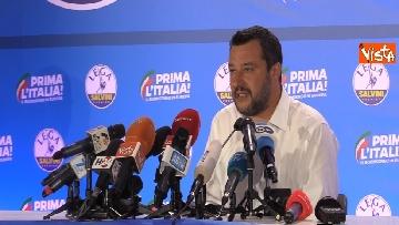 5 - Salvini in conferenza stampa dopo i risultati delle elezioni europee