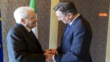 1 - Mattarella incontra il Presidente della Repubblica di Slovenia, Borut Pahor