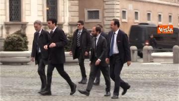 2 - Consultazioni, il Pd al Quirinale guidato da Martina, Orfini, Delrio e Marcucci