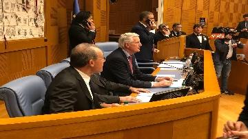 10 - Negoziatore Ue per Brexit, Barnier, incontra Fico e viene ascoltato in Commissione Esteri