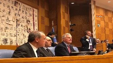 11 - Negoziatore Ue per Brexit, Barnier, incontra Fico e viene ascoltato in Commissione Esteri