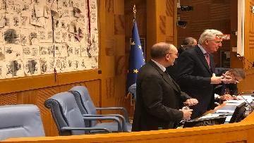14 - Negoziatore Ue per Brexit, Barnier, incontra Fico e viene ascoltato in Commissione Esteri