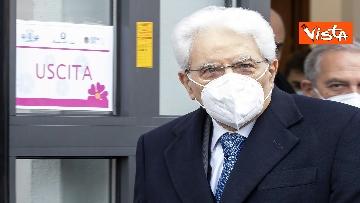 3 - Il Presidente Mattarella si è vaccinato allo Spallanzani, le immagini