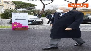 2 - Il Presidente Mattarella si è vaccinato allo Spallanzani, le immagini