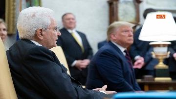10 - Mattarella con Trump nello Studio Ovale