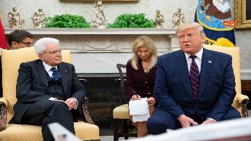 2 - Mattarella con Trump nello Studio Ovale