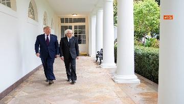 5 - Mattarella con Trump nello Studio Ovale