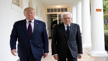 6 - Mattarella con Trump nello Studio Ovale