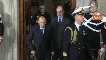 2 - Napolitano al Quirinale per le Consultazioni