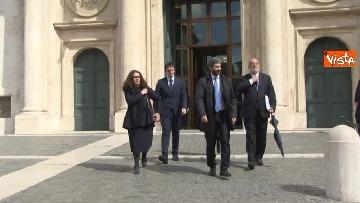 1 - Roberto Fico raggiunge il Quirinale a piedi
