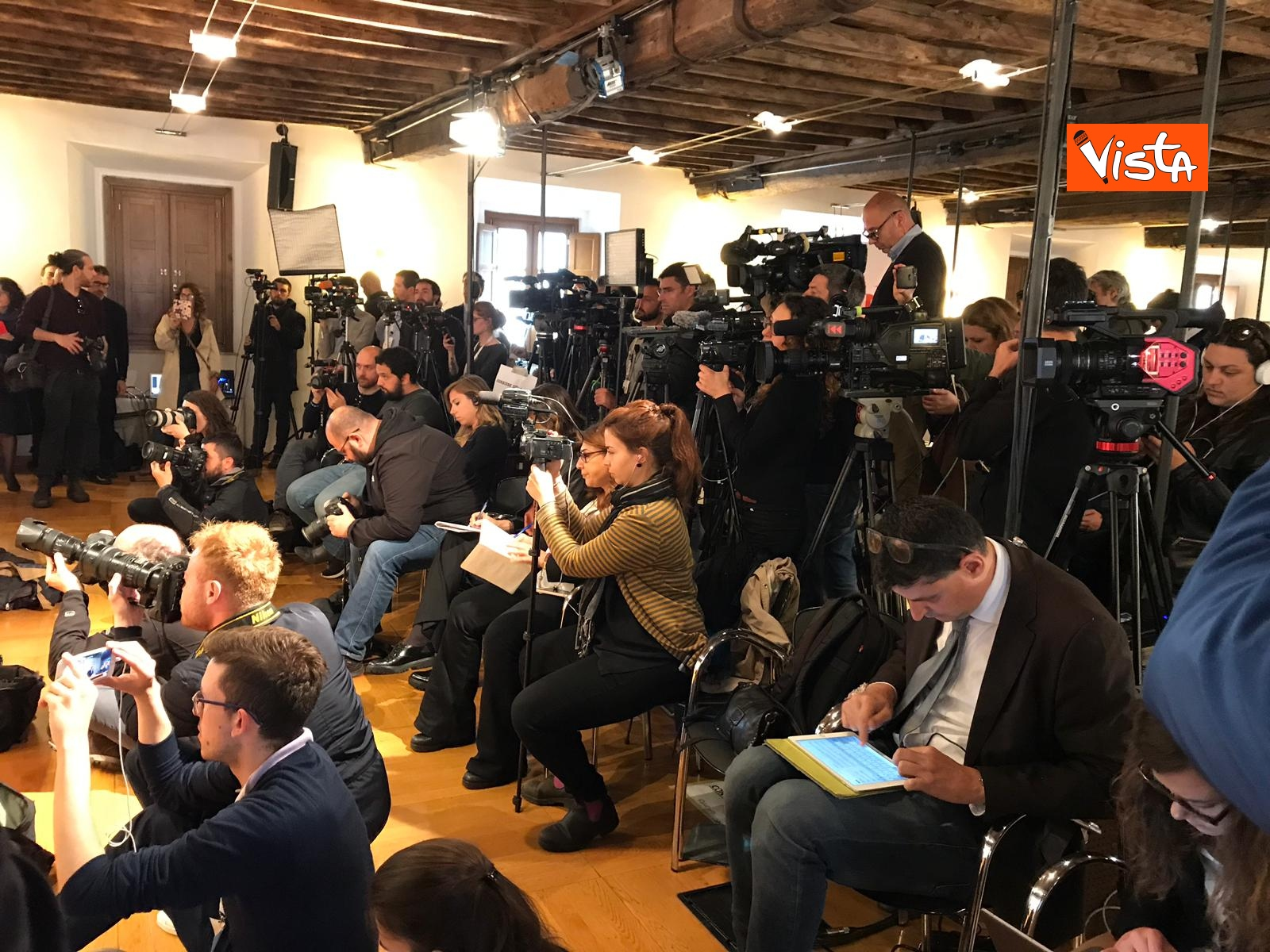 Zingaretti incontra la stampa al Nazareno