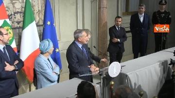 3 - Il gruppo Misto del Senato al Quirinale, Grasso, Bonino, De Petris e Nencini in conferenza stampa
