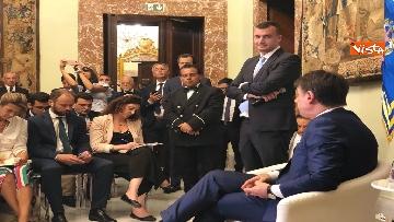 13 - Il presidente del Consiglio, Giuseppe Conte, incontra la stampa nazionale prima della pausa estiva