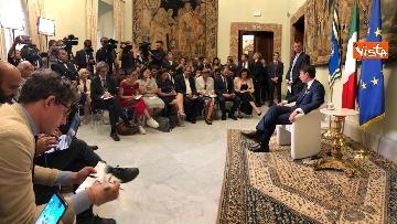 10 - Il presidente del Consiglio, Giuseppe Conte, incontra la stampa nazionale prima della pausa estiva