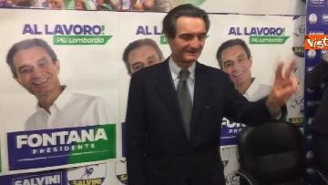 3 - Regionali Lombardia, Fontana il giorno dopo la vittoria