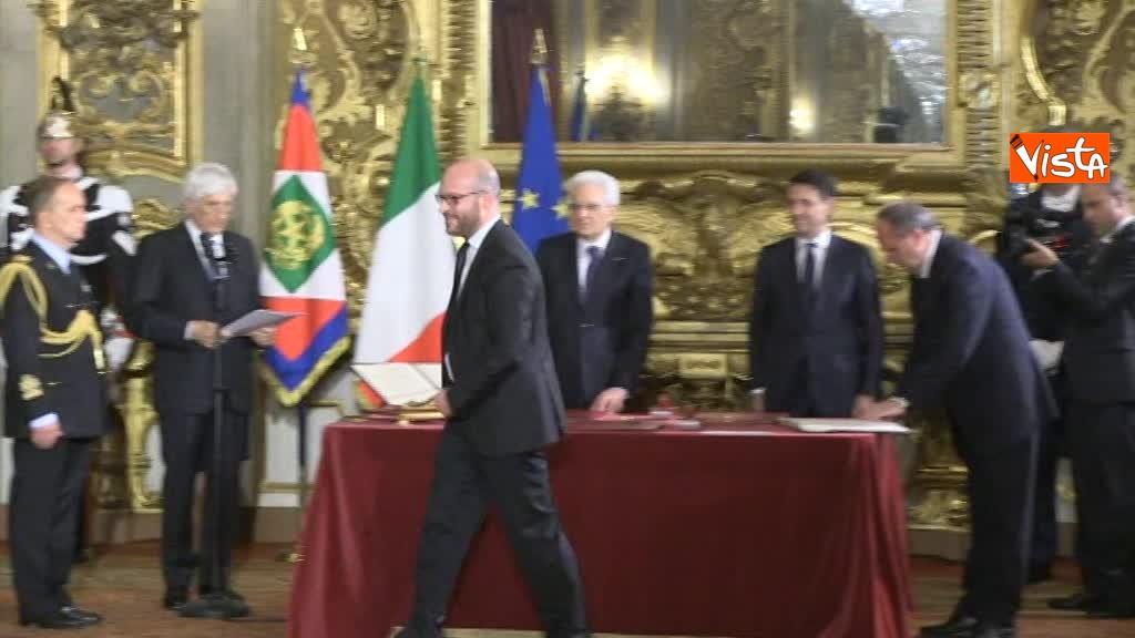 01-06-18 Il giuramento di Fontana, Ministro della Famiglia