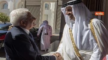 5 - Mattarella in visita di Stato in Qatar arriva all'aeroporto di Doha