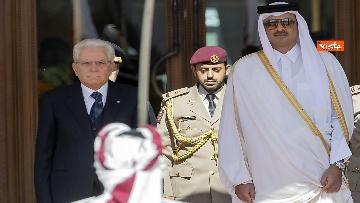 6 - Mattarella in visita di Stato in Qatar arriva all'aeroporto di Doha