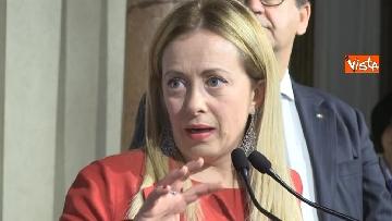 4 - Giorgia Meloni al Quirinale per le consultazioni