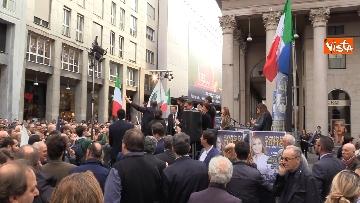 7 - Il comizio di Giorgia Meloni in piazza San Carlo a Milano,