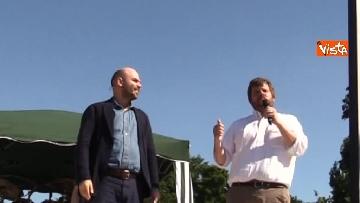 1 - Il comizio dello scrittore Roberto Saviano a parco Sempione a Milano