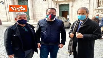 1 - Spirlì a Roma incontra Salvini per parlare di vaccini e infrastrutture, le immagini