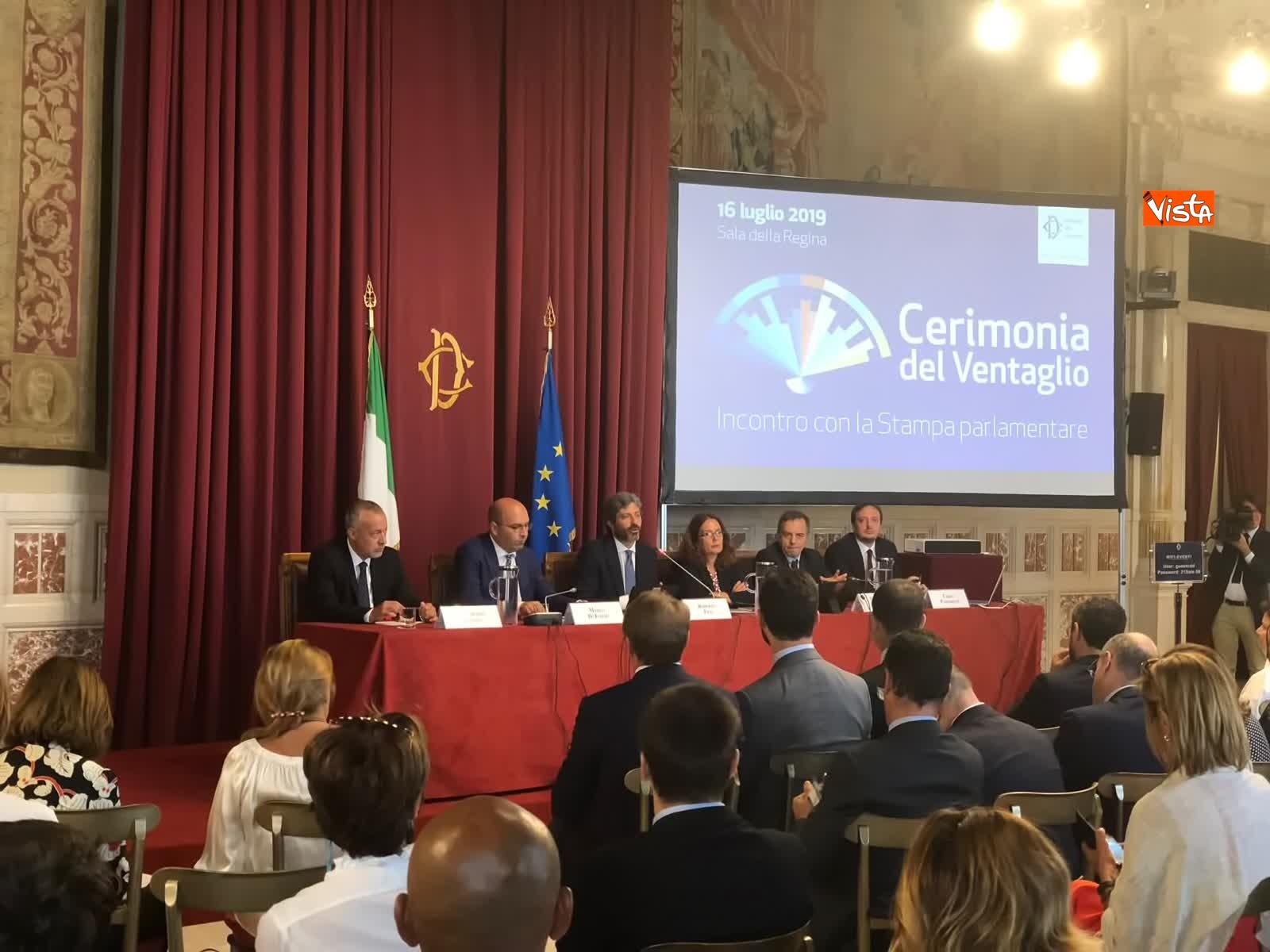 16-07-19 Cerimonia del Ventaglio a Montecitorio Fico incontra la stampa parlamentare immagini_03