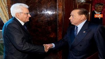 1 - Mattarella accoglie la delegazione di FI guidata da Berlusconi