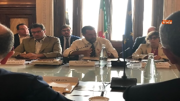5 - Manovra, Salvini al tavolo con le parti sociali al Viminale