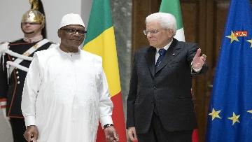 4 - Mattarella incontra il presidente della Repubblica del Mali