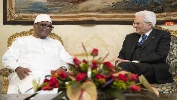 5 - Mattarella incontra il presidente della Repubblica del Mali