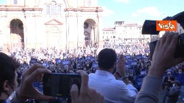 1 - Salvini a Voghera (Pavia) per il comizio elettorale, le immagini