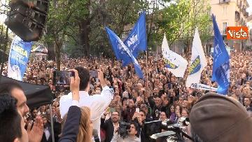 1 - Il comizio del ministro Salvini a Biella