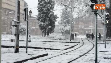 13 - La neve ricopre le strade di Roma