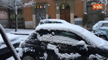 8 - La neve ricopre le strade di Roma