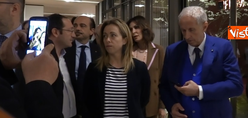Giorgia Meloni visita il Salone del Mobile di Milano