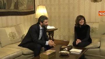 10 - Primo incontro ufficiale tra Fico e Casellati, i Presidenti al Senato