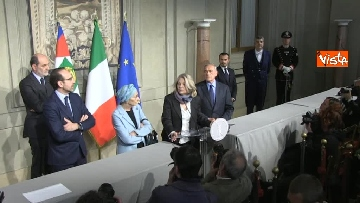 11 - Il gruppo Misto del Senato al Quirinale, Grasso, Bonino, De Petris e Nencini in conferenza stampa