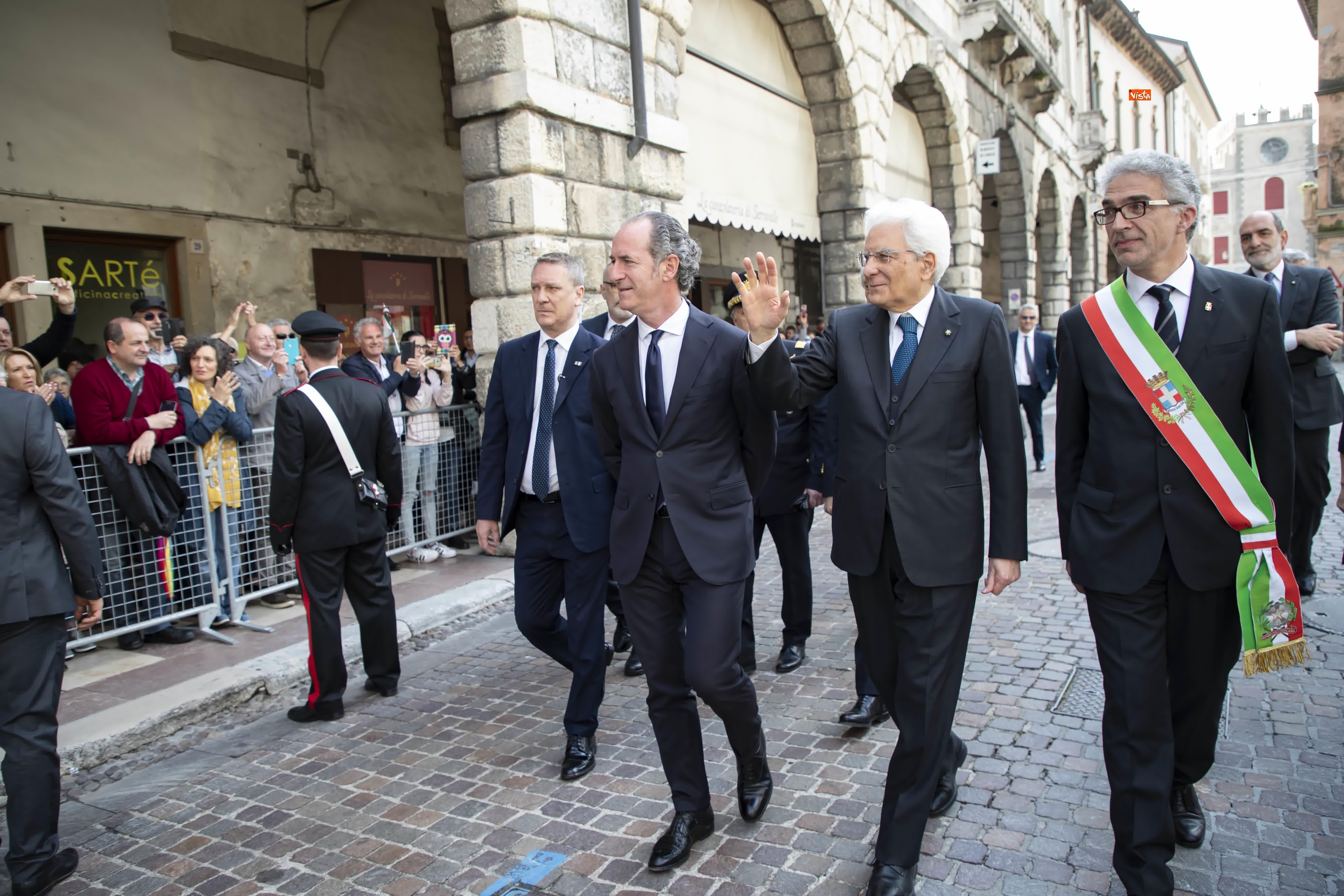 25-04-19 25 Aprile, Mattarella alla Cerimonia in occasione del 74 Anniversario della Liberazione a Vittorio Veneto