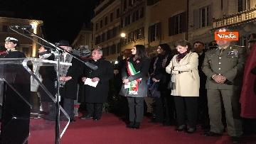5 - La Colonna dell'Immacolata in tutto il suo splendore illuminata da Vittorio e Francesca Storaro