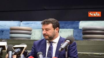 5 - Salvini e Bongiorno la conferenza stampa dopo l'udienza preliminare, le foto