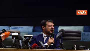 7 - Salvini e Bongiorno la conferenza stampa dopo l'udienza preliminare, le foto