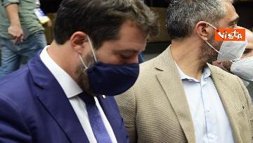 6 - Salvini e Bongiorno la conferenza stampa dopo l'udienza preliminare, le foto