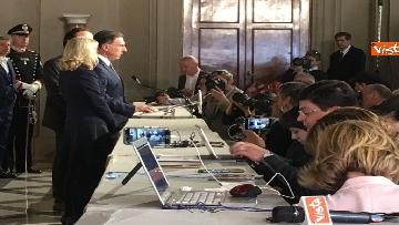 9 - Consultazioni, il gruppo per le Autonomie del Senato a margine del colloquio con Mattarella immagini