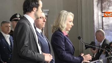 2 - Consultazioni, il gruppo per le Autonomie del Senato a margine del colloquio con Mattarella immagini